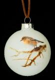Елочный стеклянный шарик 7 см  Птичка 76886