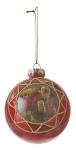 Елочный стеклянный шарик Саната 8 см цвет красный 39786