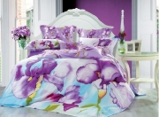 Семейный комплект постельного белья Сатин «Ирисы»
