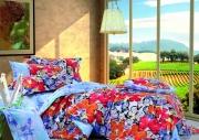 Семейный комплект постельного белья Сатин «Бабочки»