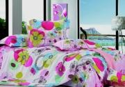 Семейный комплект постельного белья Сатин «Нектар»