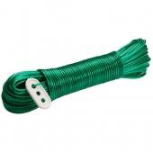 Шнур бельевой,30м ПВХ металлизированный с натяжкой
