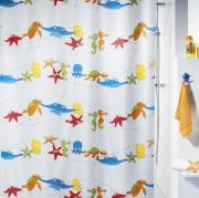 Шторка для ванной текстильная Spirella AQUARIUM