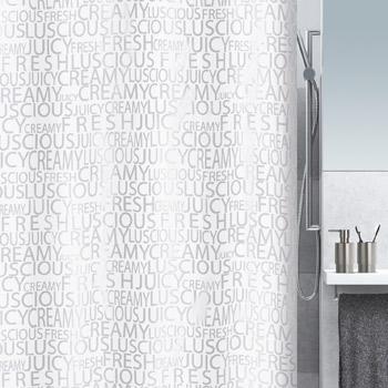 Шторка для ванной текстильная Spirella CREAMY