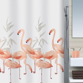 Шторка для ванной текстильная Spirella FLAMINGO