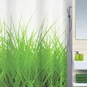 Шторка для ванной текстильная Spirella GRASS