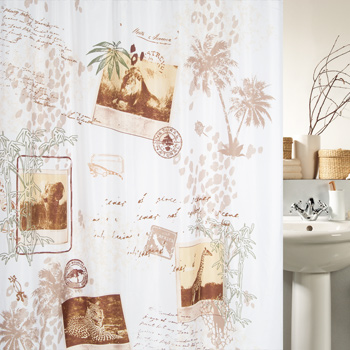 Шторка для ванной текстильная Spirella KAYA