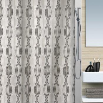 Шторка для ванной текстильная Spirella NAHLA