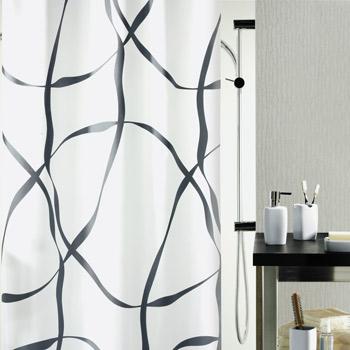 Шторка для ванной текстильная Spirella RIBBON
