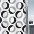 Шторка для ванной текстильная Spirella RINGS