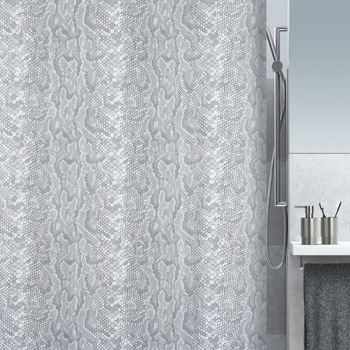 Шторка для ванной текстильная Spirella SNAKE