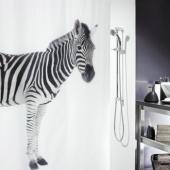 Шторка для ванной текстильная Spirella ZEBRA