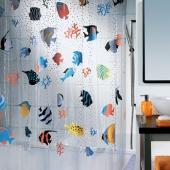 Шторка для ванной виниловая Spirella FISH