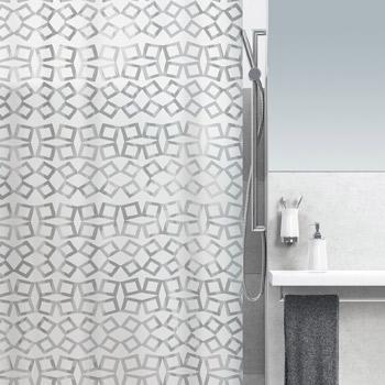 Шторка для ванной виниловая Spirella GRID