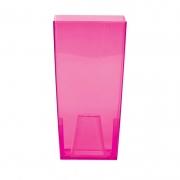 Горшок для цветов URBI 125мм квадратный прозрачный розовый 70821-9