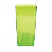 Горшок для цветов URBI 125мм квадратный прозрачный зеленый 70821-2