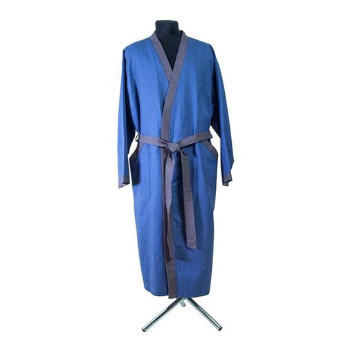Халат мужской пике (вафельный) синий