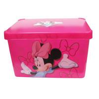 Ящик для хранения 23л  Deco`s розовый MINNIE