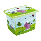 Ящик для хранения  Hippo 20л с крышкой