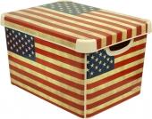 Ящик для хранения 23л Deco`s  USA flag 012437