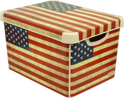 Ящик для хранения 23л Deco`s  USA flag