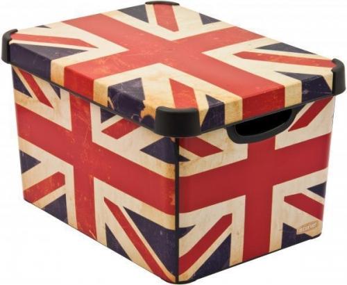 Ящик для хранения 23л Deco`s British flag 01881