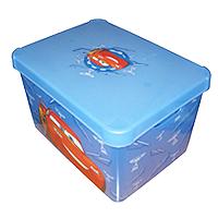 Ящик для хранения Deco`s  CARS прозрачный синий