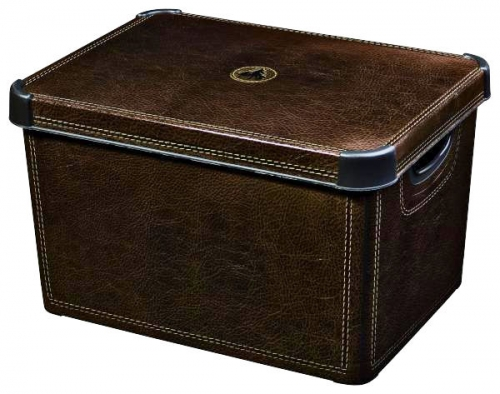 Ящик для хранения 23л Deco`s STOCKHOLM Leather 1103