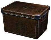 Ящик для хранения 23л Deco`s STOCKHOLM Leather