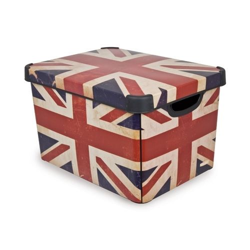 Ящик для хранения 6л Deco`s BRITISH FLAG
