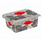 Ящик для хранения PoppyStile 10л с крышкой