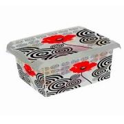 Ящик для хранения PoppyStile 10л с крышкой 2719