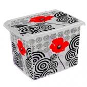 Ящик для хранения PoppyStile 20л с крышкой 2819