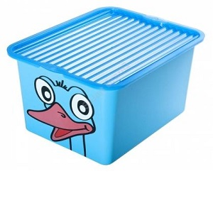 """Ящик для хранения 27л с крышкой """"C-BOX"""" с рисунком"""
