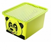 """Ящик для хранения 13л с крышкой """"C-BOX"""" с рисунком"""