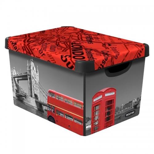 Ящик для хранения 23л Deco`s  LONDON 12291