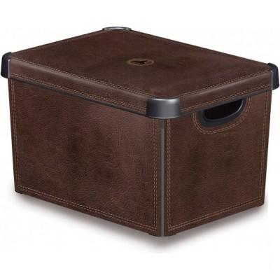 Ящик для хранения 6л Deco`s STOCKHOLM Leather 0106