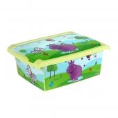 Ящик для хранения Hippo 10л с крышкой
